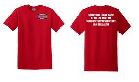 US Air Force Veteran Cotton T-Shirt -Still Alive-(P)