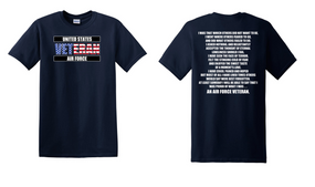 US Air Force Veteran Cotton T-Shirt -That Which Others-(FF)