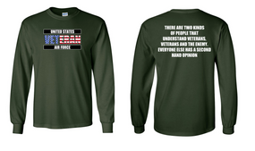 US Air Force Veteran Long-Sleeve Cotton Shirt  -Two Kinds- (FF)
