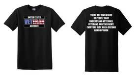 US Air Force Veteran Cotton T-Shirt -Two Kinds-(FF)