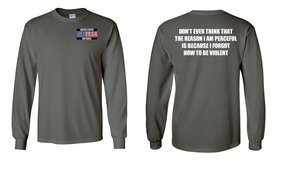 US Air Force Veteran Long-Sleeve Cotton Shirt  -Violent- (P)