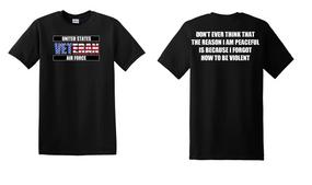 US Air Force Veteran Cotton T-Shirt -Violent-(FF)