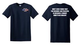 US Air Force Veteran Cotton T-Shirt -Violent-(P)