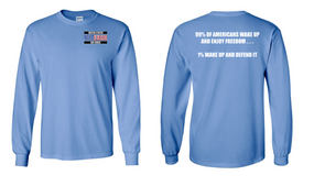 US Air Force Veteran Long-Sleeve Cotton Shirt  -Wake Up- (P)