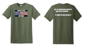 US Air Force Veteran Cotton T-Shirt -Wake Up-(FF)