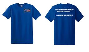 US Air Force Veteran Cotton T-Shirt -Wake Up-(P)