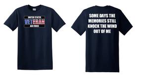 US Air Force Veteran Cotton T-Shirt -Wind-(FF)