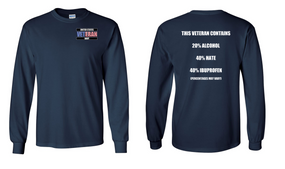 US Navy Veteran Long-Sleeve Cotton Shirt  -Hate- (P)