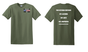US Navy Veteran Cotton T-Shirt -Hate-(P)