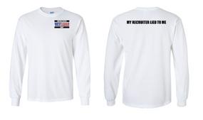 US Navy Veteran Long-Sleeve Cotton Shirt- Recruiter- (P)