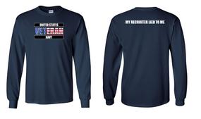 US Navy Veteran Long-Sleeve Cotton Shirt- Recruiter- (FF)