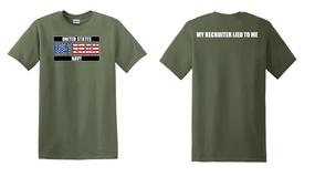 US Navy Veteran Cotton T-Shirt -Recruiter-(FF)