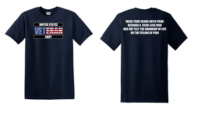 US Navy Veteran Cotton T-Shirt -Scars-(FF)