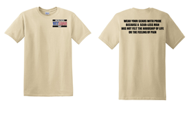 US Navy Veteran Cotton T-Shirt -Scars-(P)