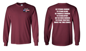 US Navy Veteran Long-Sleeve Cotton Shirt- Stand- (P)
