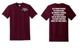 US Navy Veteran Cotton T-Shirt -Stand-(P)