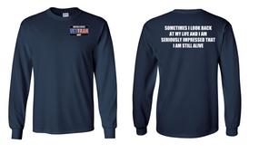 US Navy Veteran Long-Sleeve Cotton Shirt- Still Alive- (P)