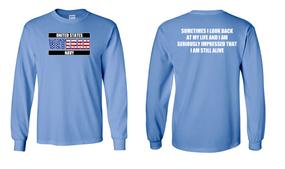 US Navy Veteran Long-Sleeve Cotton Shirt- Still Alive- (FF)