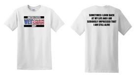US Navy Veteran Cotton T-Shirt -Still Alive-(FF)