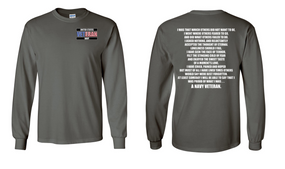 US Navy Veteran Long-Sleeve Cotton Shirt- That Which Others- (P)