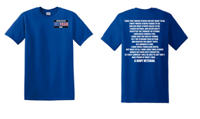 US Navy Veteran Cotton T-Shirt -That Which Others-(P)