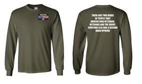 US Navy Veteran Long-Sleeve Cotton Shirt- Two Kinds- (P)