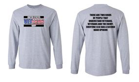 US Navy Veteran Long-Sleeve Cotton Shirt- Two Kinds- (FF)