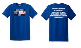 US Navy Veteran Cotton T-Shirt -Two Kinds-(FF)