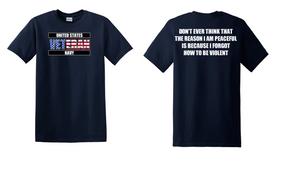 US Navy Veteran Cotton T-Shirt -Violent-(FF)