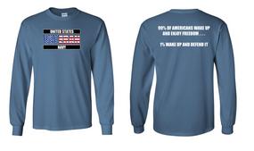 US Navy Veteran Long-Sleeve Cotton Shirt- Wake Up- (FF)