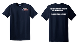 US Navy Veteran Cotton Shirt- Wake Up- (P)