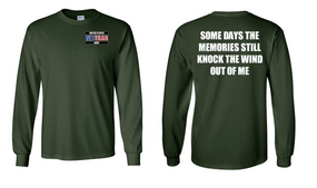 US Navy Veteran Long-Sleeve Cotton Shirt- Wind- (P)