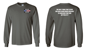 US Coast Guard Veteran Long-Sleeve Cotton Shirt- Evil- (P)