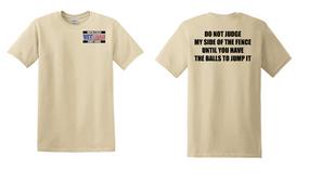 US Coast Guard Veteran Cotton Shirt- Fence- (P)