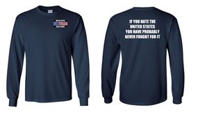 US Coast Guard Veteran Long-Sleeve Cotton Shirt- Fought- (P)