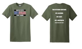 US Coast Guard Veteran Cotton Shirt- Hate- (FF)