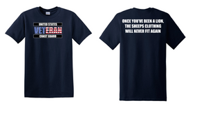 US Coast Guard Veteran Cotton Shirt- Lion- (FF)