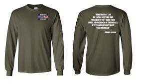 US Coast Guard Veteran Long-Sleeve Cotton Shirt- Reagan- (P)