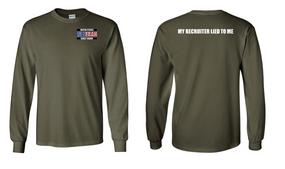 US Coast Guard Veteran Long-Sleeve Cotton Shirt- Recruiter- (P)