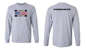 US Coast Guard Veteran Long-Sleeve Cotton Shirt- Recruiter- (FF)