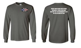 US Coast Guard Veteran Long-Sleeve Cotton Shirt- Scars- (P)