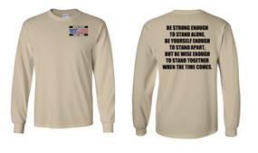 US Coast Guard Veteran Long-Sleeve Cotton Shirt- Stand- (P)
