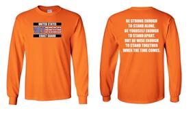 US Coast Guard Veteran Long-Sleeve Cotton Shirt- Stand- (FF)