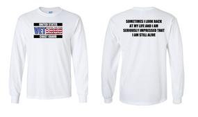 US Coast Guard Veteran Long-Sleeve Cotton Shirt- Still Alive- (FF)
