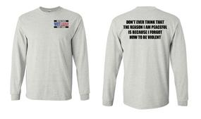 US Coast Guard Veteran Long-Sleeve Cotton Shirt- Violent- (P)