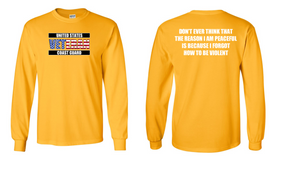 US Coast Guard Veteran Long-Sleeve Cotton Shirt- Violent- (FF)