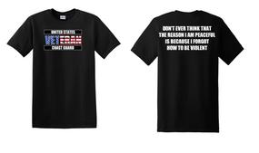 US Coast Guard Veteran Cotton Shirt-Violent- (FF)