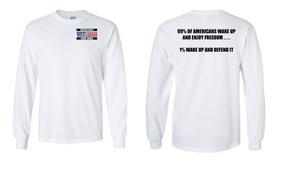 US Coast Guard Veteran Long-Sleeve Cotton Shirt- Wake Up- (P)
