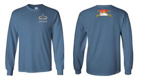 1-17th Cavalry (Guidon) Senior Jumpmaster Long-Sleeve Cotton Shirt
