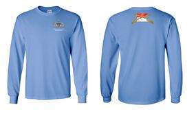 1-17th Cavalry (Guidon) Senior Paratrooper Long-Sleeve Cotton Shirt